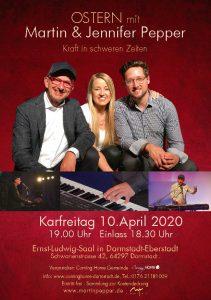 Ostern mit Martin & Jennifer Pepper in Darmstadt (verschoben auf 2021 wegen Corona) @ Ernst Ludwig-Saal